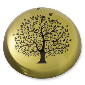 Tree with Doves Domed Paperweight