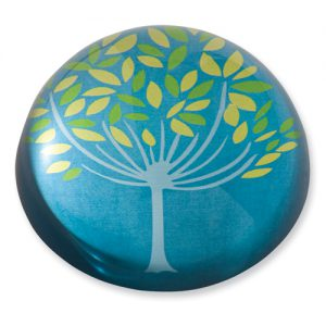 Blue Tree Domed Paperweight