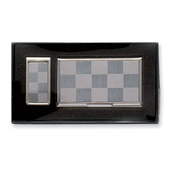Business card holder money clip set gm2788g colourmoves